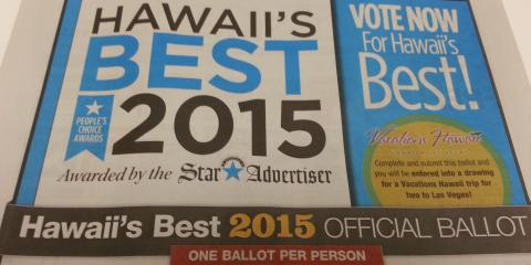 Please Vote for Island Movers as Hawaii's Best Moving Company, Ewa, Hawaii