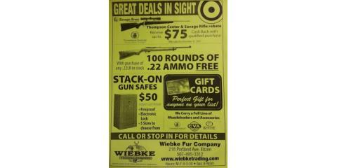 Holiday Specials at Wiebke Trading, Eitzen, Minnesota