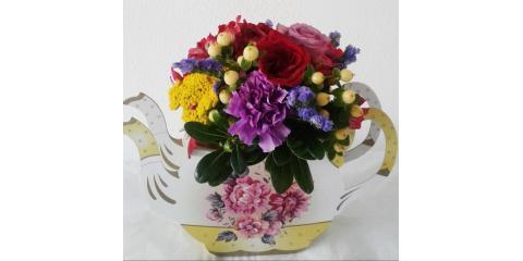 Flower Vase with Fresh Flowers, Xenia, Ohio