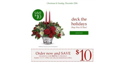 Your Gift from Swan Floral, $10 on us at www.swanflorist.com, Erlanger, Kentucky