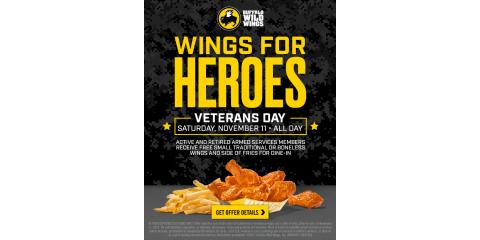 Veterans Day Special at Buffalo Wild Wings!, Danbury, Connecticut