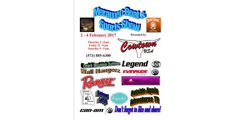 Meramec Boat & Sports Show at Cowtown USA, Cuba, Missouri