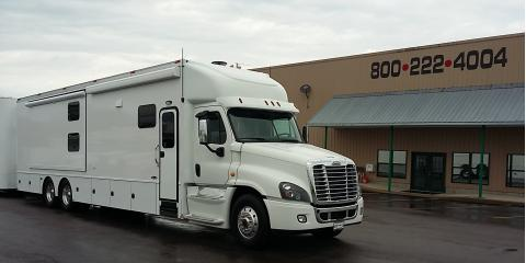 New Renegade Motorhome & Double-Level Trailer Rolls Into Flying A Motorsports Today, Cuba, Missouri