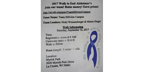 "Join ""Team Hillview Campus"", La Crosse, Wisconsin"