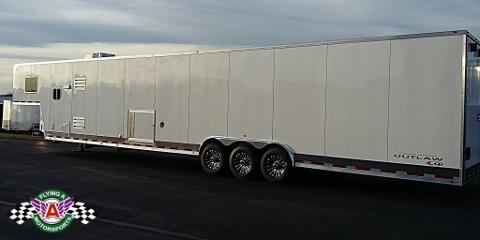 Check Out the Trailers on Their Way to Flying A!, Cuba, Missouri