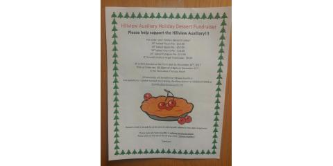 Hillview Auxiliary Holiday Dessert Fundraiser, La Crosse, Wisconsin