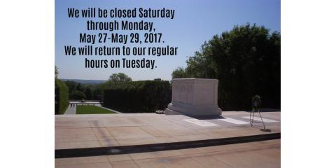 Closed for Memorial Day, Kettering, Ohio