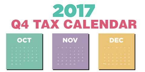 2017 Quarter 4 Tax Calendar: Key Deadlines for Businesses and Other Employers, Mountain Home, Arkansas