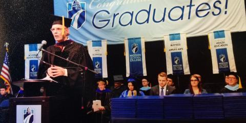 Attorney Hasler Speaks at Madison College Graduation , Reedsburg, Wisconsin