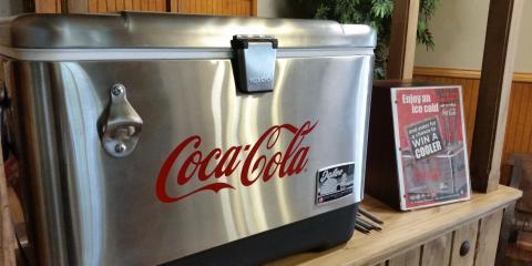 Coca Cola Cooler giveaway, Springdale, Arkansas