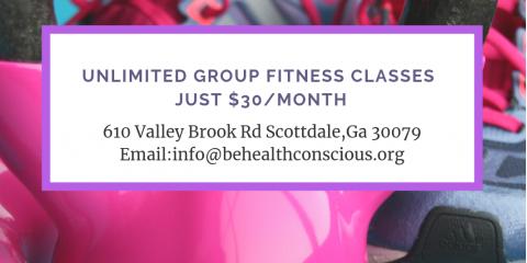 Unlimited Group Fitness Classes, Atlanta-Decatur, Georgia