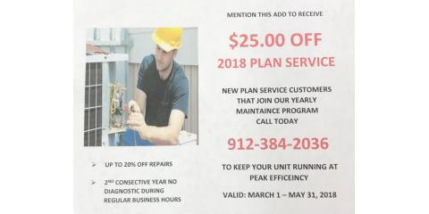 $25 OFF 2018 PLAN SERVICE FOR NEW CUSTOMERS, Douglas, Georgia
