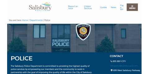 "The Salisbury, Maryland Police Department suffers ransomware attack - ""the worst network attack in [its] history"" , Lake St. Louis, Missouri"