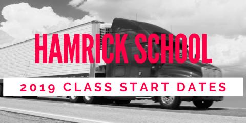 Hamrick School Announces 2019 Start Dates, Sharon, Ohio