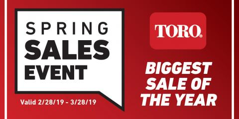 10 Days Left!  Toro's Spring Sales Event Ends on March 28th!, Arden Hills, Minnesota