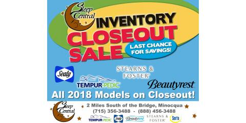 Mattress Closeout Clearance Sale! Beautyrest & TempurPedic!, Minocqua, Wisconsin