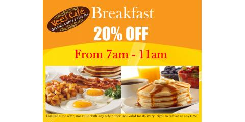 20% OFF on Breakfast, Los Angeles, California