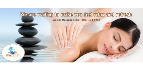 Waikiki Massage Clinic, Massage Therapists, Services, Honolulu, Hawaii