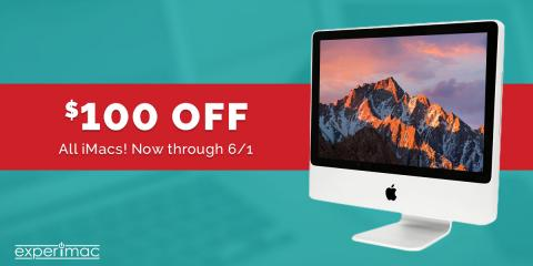 Great deal - $100 off all re-certified iMacs !, 6, Louisiana
