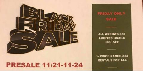 Black Friday PreSale M&M Archery Range and Pro Shop, Independence, Kentucky