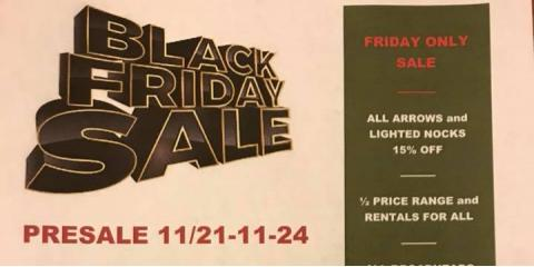 Black Friday PreSale M&M Archery Range and Pro Shop, Independence, Kentucky