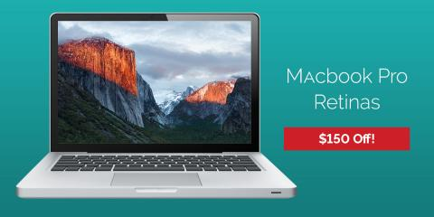 Great deal - $150 off Macbook Pros at Experimac!, 12, Louisiana
