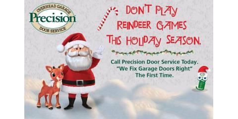 Santa prefers coming through your garage door!, Dayton, Ohio