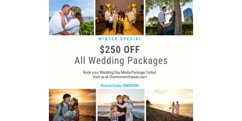 $250 OFF All Wedding Packages, Ewa, Hawaii