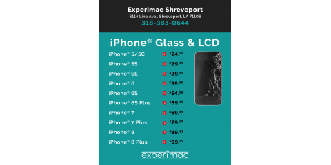 Best prices in Shreveport/Bossier on iPhone screen repairs!, 6, Louisiana