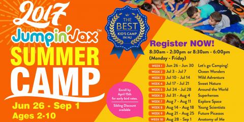 Take Advantage of our Early Bird Prices for Summer Camp, Paramus, New Jersey