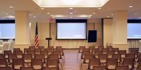 Newly Renovated 2nd Floor Conference Hall at NYCSCC Strikes the Perfect Balance Between Aesthetic Appeal and High-Tech Functionality!, Manhattan, New York