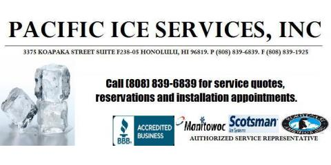 Pacific Ice Services, Ice, Restaurants and Food, Honolulu, Hawaii