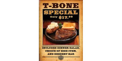 Still serving the T-Bone, have you tried it?, Russellville, Arkansas