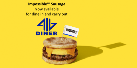 416 Diner Loves Impossible™ and we're adding Impossible Sausage to prove it!, Dayton, Ohio