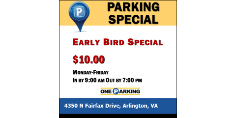 Early Bird Special | 4350 N Fairfax Dr, Arlington, VA, Arlington, Virginia