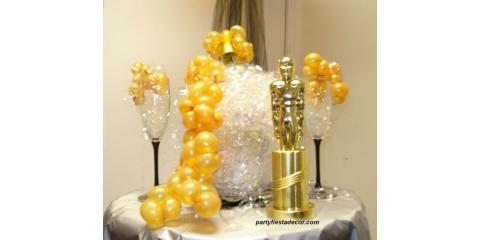 "PARTY FIESTA BALLOON DECOR Celebrates Hollywood's 5 Favorite Words: ""And the Oscar Goes to...""!, San Jose, California"