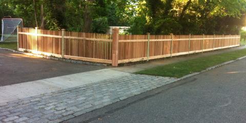Custom Cedar Wood Fence Oozes with Charm, Islip, New York