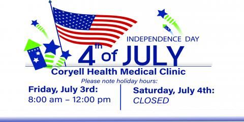 Coryell Health Observes Independence Day, Gatesville, Texas