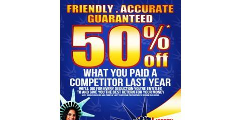 50 percent off deal, Queens, New York