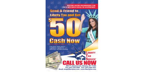 Liberty Tax Service offices operate throughout the United States and Canada. New Liberty Tax Service customers can get a $50 cash bonus at participating locations just for using their paid tax preparation services. Plus, current customers can get another $50 cash bonus for .