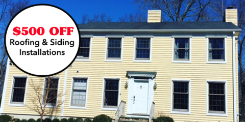 $500 Off Roofing or Siding Installations For A Limited Time, New Canaan, Connecticut