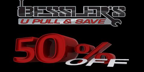 50% OFF SALE, ALL MONTH OF JANUARY ON ALL PARTS!!, Hebron, Kentucky