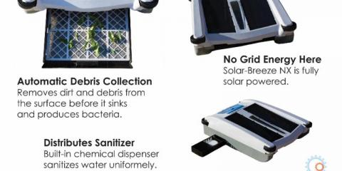 Solar-Breeze Robotic Pool Cleaner, East Rochester, New York