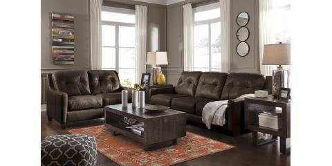 O'KEAN LEATHER SOFA AND LOVESEAT-MAHOGANY-$1540, Maryland Heights, Missouri
