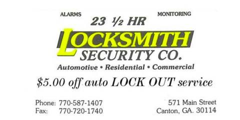 Discount Locksmith Service, Canton, Georgia