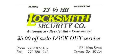 Discount Locksmith Service, Canton, Georgia