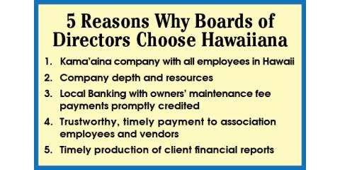 Hawaiiana Management Company Reports Winning 1st Quarter 2017 Results, Honolulu, Hawaii