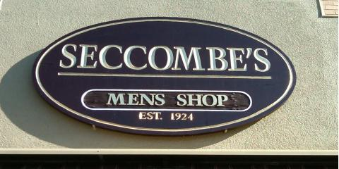 Seccombe's Men's Shop, Mens Clothing, Shopping, Ansonia, Connecticut