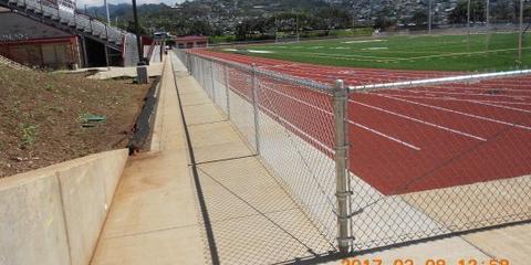 Waipahu Fencing Company Helps With New Football Stadium at Farrington High School , Ewa, Hawaii