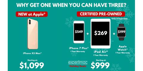 Buy Apple Pre-owned and Don't Just Get a Single Apple get the Whole Bushel., Amherst, New York